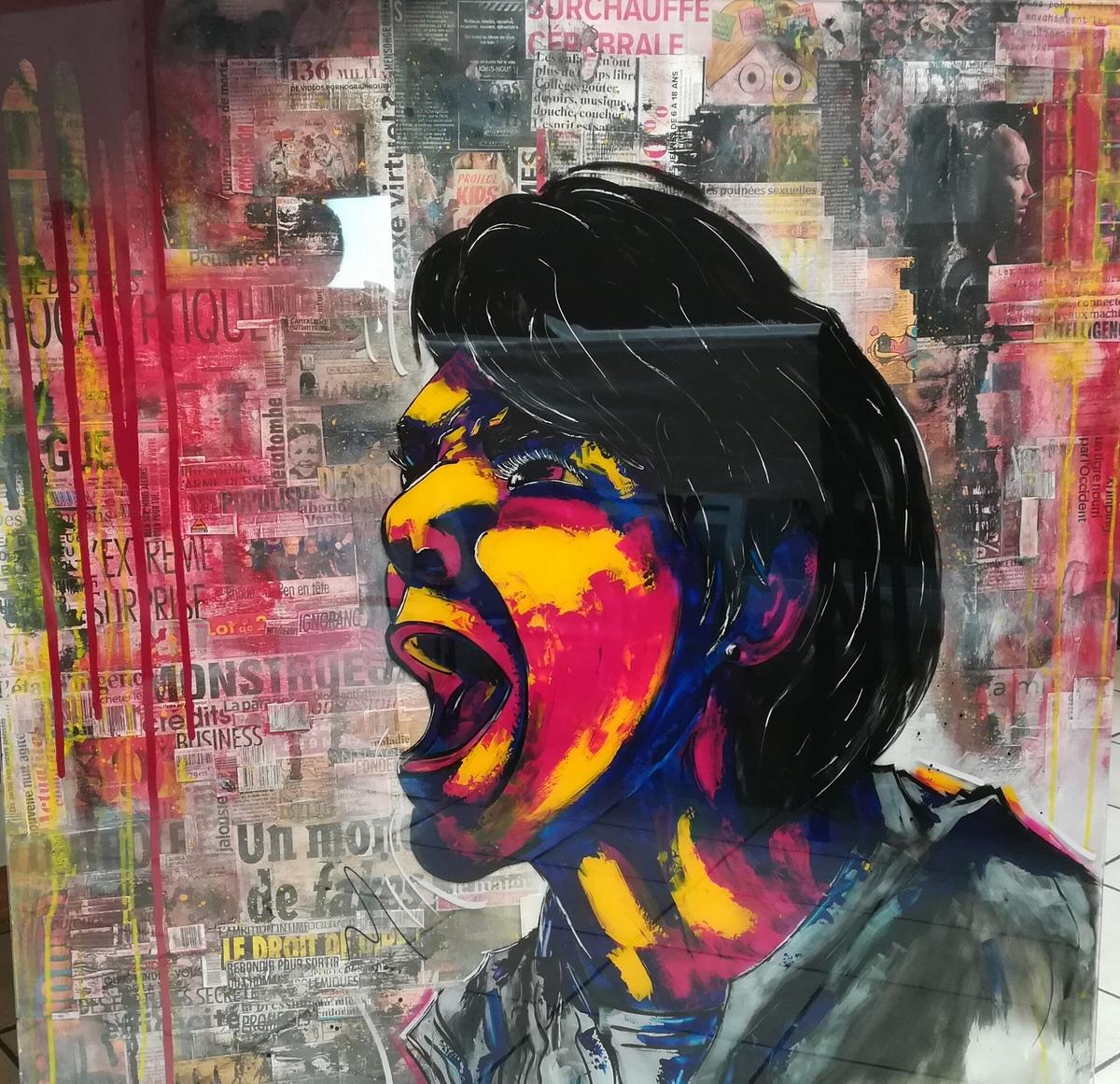 toile  peinture contemporaine  cr u00e9ation  artiste peintre